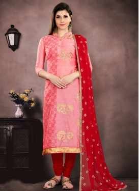 Chanderi Cotton Trendy Straight Salwar Suit