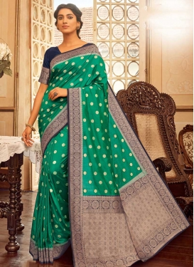 Chanderi Cotton Woven Work Designer Traditional Saree