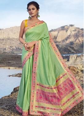 Chanderi Silk Contemporary Style Saree