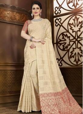 Chanderi Silk Contemporary Style Saree For Casual