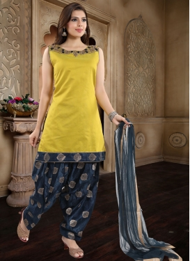 Chanderi Silk Cutdana Work Readymade Salwar Kameez
