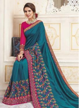 Chanderi Silk Designer Contemporary Saree For Ceremonial