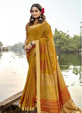 Chanderi Silk Designer Contemporary Style Saree