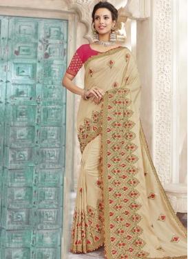 Chanderi Silk Designer Contemporary Style Saree For Festival