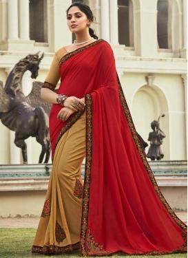 Chanderi Silk Designer Half N Half Saree