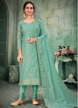 Chanderi Silk Pakistani Straight Salwar Kameez