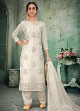 Chanderi Silk Pakistani Straight Salwar Suit