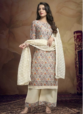 Chanderi Silk Palazzo Style Pakistani Salwar Kameez For Casual