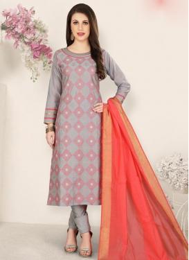 Chanderi Silk Pant Style Pakistani Salwar Kameez