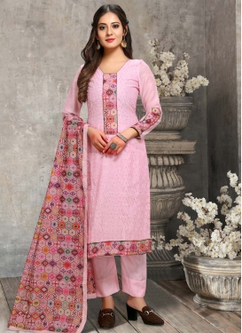 Chanderi Silk Pant Style Pakistani Salwar Kameez For Ceremonial