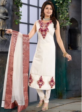 Chanderi Silk Readymade Churidar Salwar Kameez