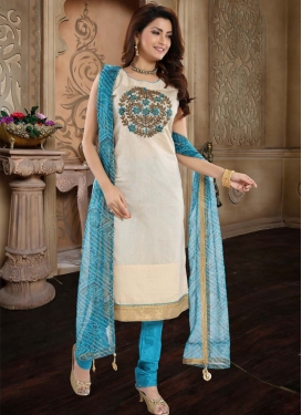 Chanderi Silk Readymade Churidar Salwar Kameez