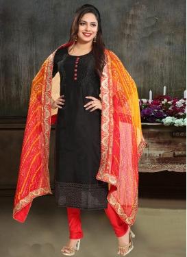 Chanderi Silk Readymade Churidar Salwar Kameez For Festival