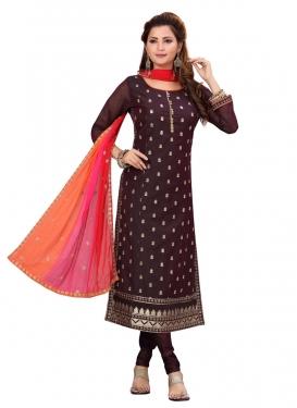 Chanderi Silk Readymade Churidar Salwar Suit