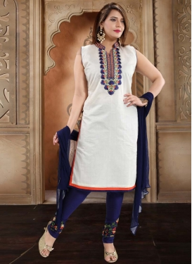 Chanderi Silk Readymade Churidar Salwar Suit For Ceremonial