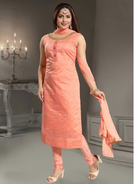 Chanderi Silk Readymade Churidar Suit