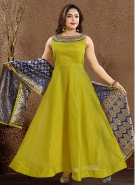Chanderi Silk Readymade Classic Gown