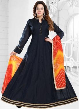 Chanderi Silk Readymade Designer Gown For Ceremonial