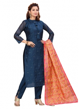Chanderi Silk Readymade Designer Salwar Suit For Ceremonial