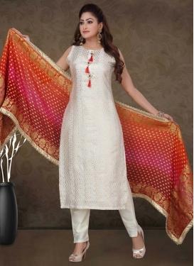 Chanderi Silk Readymade Designer Suit