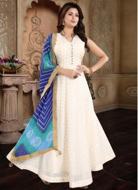 Chanderi Silk Readymade Floor Length Gown