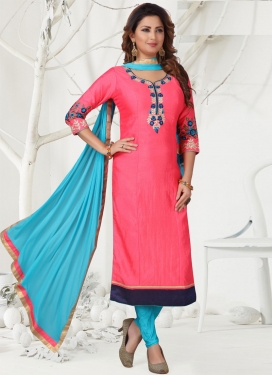 Chanderi Silk Readymade Long Length Suit