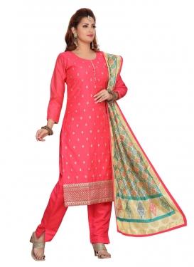 Chanderi Silk Readymade Long Length Suit