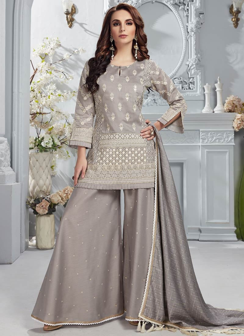Chanderi Silk Readymade Salwar Suit For Ceremonial