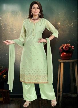 Chanderi Silk Readymade Suit