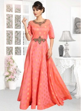 Chanderi Silk Readymade Trendy Gown