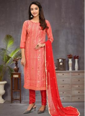 Chanderi Silk Trendy Churidar Salwar Suit For Casual