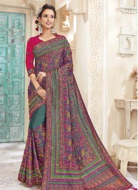 Chanderi Silk Trendy Classic Saree For Festival