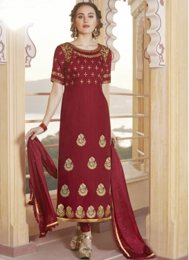 Chanderi Silk Trendy Pakistani Salwar Kameez