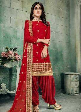 Chanderi Silk Trendy Patiala Salwar Suit