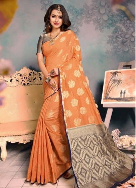 Chanderi Silk Woven Work Trendy Classic Saree
