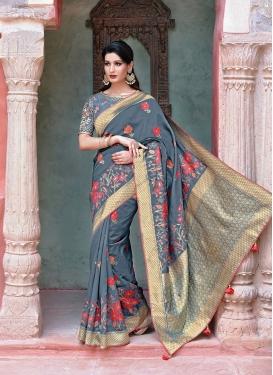 Charismatic Art Silk Weaving Grey Traditional Designer Saree