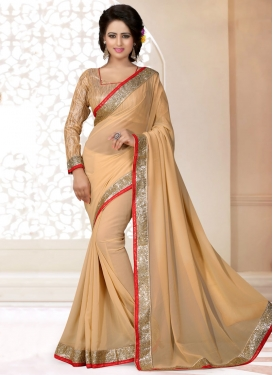 Charismatic Beige Color Casual Saree