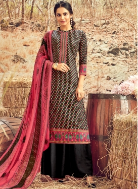 Charismatic Cotton Abstract Print Designer Palazzo Suit