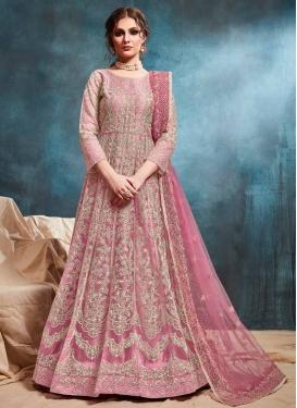 Chicken Work Floor Length Anarkali Salwar Suit