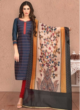 Chicken Work Trendy Straight Salwar Suit