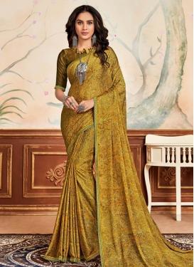 Chiffon Satin Designer Contemporary Saree