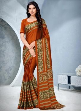 Chiffon Satin Designer Contemporary Saree For Casual