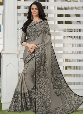 Chiffon Satin Designer Contemporary Style Saree
