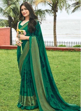 Chiffon Satin Designer Traditional Saree