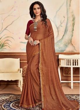 Chiffon Satin Traditional Designer Saree