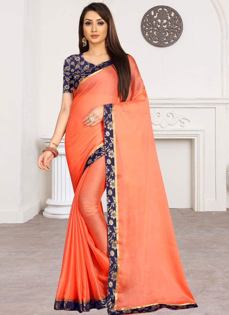 Chiffon Satin Traditional Designer Saree