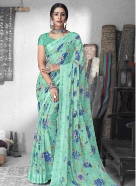 Chiffon Satin Traditional Designer Saree For Casual