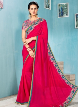 Chiffon Satin Traditional Saree