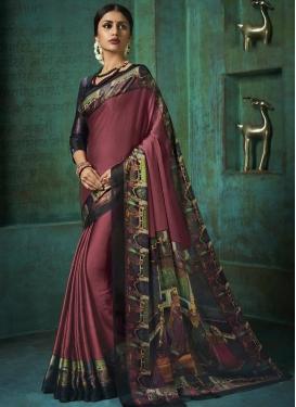 Chiffon Satin Trendy Classic Saree For Casual