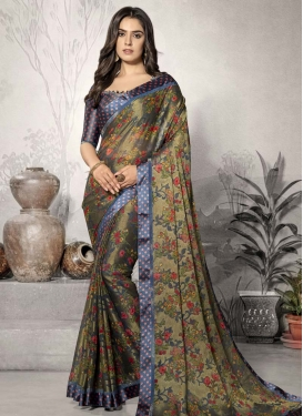 Chiffon Satin Trendy Classic Saree For Casual